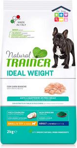 NATURAL TRAINER | LINEA SECCO CANE Ideal Weight | Mini Small & Toy con CARNI BIANCHE / 2 KG
