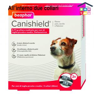 Beaphar Canishield® – Collare Antiparassitario – Per Cani Di Taglia Piccola E Media – Confezione X2 risparmio