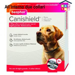 Beaphar Canishield® – Collare Antiparassitario – Per Cani Di Taglia Grande – Confezione X2 risparmio
