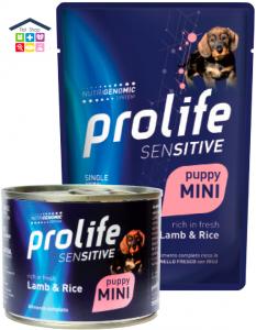 Prolife | Linea Umido Cane | MINI PUPPY SENSITIVE Agnello e Riso /da 100gr