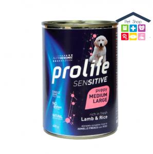 Prolife | Linea Umido Cane | PUPPY Sensitive - Agnello e Riso /  - 400gr