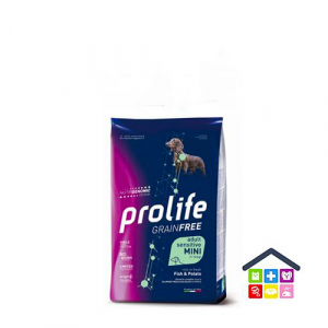 Prolife | Linea Sensitive GRAIN FREE | Adult Mini - Pesce (Salmone) e Patate / 600gr - 2kg - 7kg