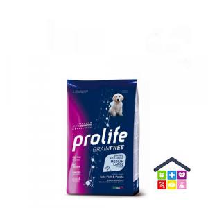 Prolife | Linea Sensitive GRAIN FREE | PUPPY Medium/Large - Sogliola e Patate / 2,5 kg - 10 kg