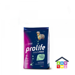 Prolife | Linea Sensitive GRAIN FREE | Adult Medium/Large - Pesce (salmone) e Patate / 2,5 kg - 10 kg