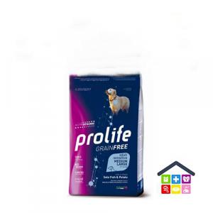 Prolife | Linea Sensitive GRAIN FREE | Adult Medium/Large - Sogliola e Patate / 2,5 kg