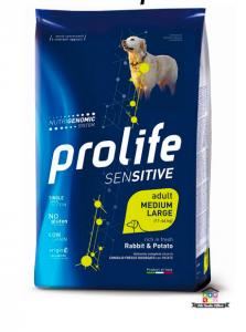 Prolife | Linea Sensitive | Adult Medium/Large - Coniglio e Patate / 2,5 kg - 10 kg