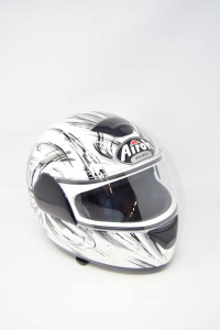 Helmet Motorcycle Airoh Size .xs 53 / 54 Bargy Design White / Black