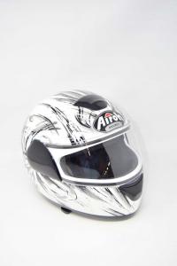 Casco Moto Airoh Tg.xs 53/54 Bargy Design Bianco/nero