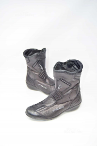 Boots Motorcycle Falcon From Woman In Leather N°.38 Mod.648 Venus2
