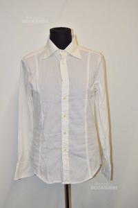 Shirt Man White Striped Replay Size M