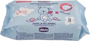CHICCO Baby Salviettine Detergenti 72 pezzi pelli sensibili