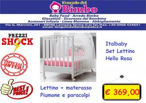 ITALBABY LETTINO COMPLETO HELLO ROSA