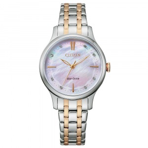 Citizen Lady argento bicolore