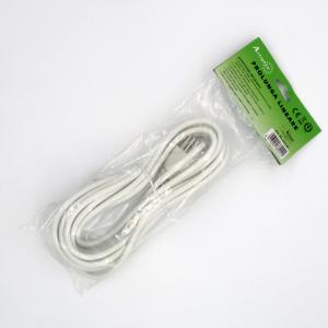 Prolunga filo bianco 5 metri  spina e presa piccola 10a