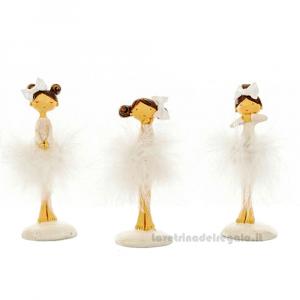 Statuina ballerina Marabu in resina 12 cm - Bomboniere comunione bimba