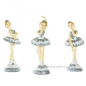 Statuina ballerina di Danza Classica in resina 13.5 cm - Bomboniere comunione bimba