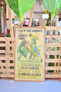 Quadro Stampa Di Plaza De Toro Monumental 58 X 100 Cm
