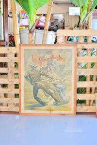 Quadro Stampa Vintage Levi's I Tre Cowboy 85 X 68 Cm