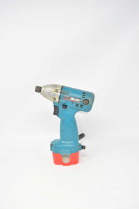 Screwdriver Makita Light Blue Model 6908d With Two Batteries And Ricaricatore