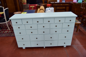 Cabinet Green Mint With 24 Drawers Hand Made