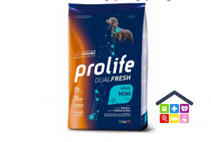 Prolife | Linea Dual Fresh | Adult Mini - Salmone, Merluzzo e Riso / 600gr - 2kg