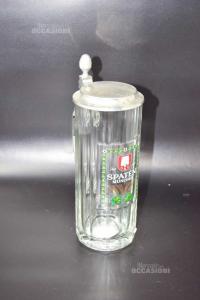 Boccale In Vetro Spaten Munchen Con Tappo Altezza 21 Cm