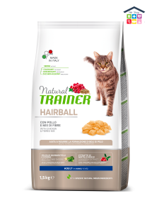 Trainer | Linea Solution Cat Dry | Hairball Control - Pollo Fresco /  0,300/1,5kg (Sacchetto)