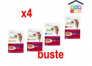 Trainer | Linea Natural Cat Wet | adult - Salmone ,pollo, manzo,tonno/ 4x85gr (Sacchetto)