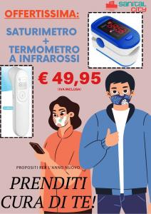 OFFERTA SET SATURIMETRO + TERMOMETRO A INFRAROSSI