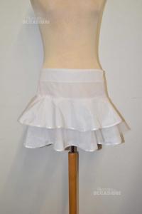 Skirt White Flavio Castellani Size.42 To Balze
