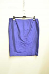 Skirt èblue Deimos Blue Light Size.51 Made In Italy 100% Silk New