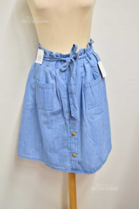 Skirt Woman In Jeans Jessica New Size 38 M