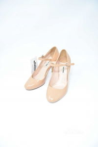 Shoes Col Heel Miu Miu Paint Pink Beige N° 38