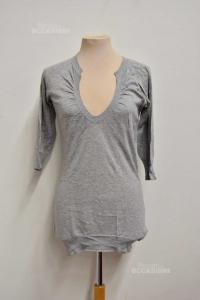 T-shirt Woman Grey Butx& Co Size.m