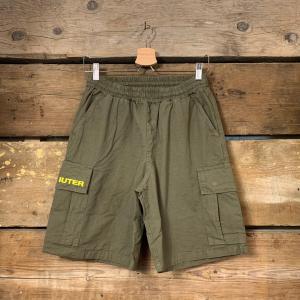 Pantaloncino Iuter Cargo Short Verde Militare con Scritte Gialle