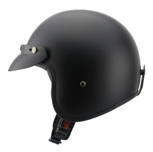 Casco jet Carburo Epic EXTRA FIT in fibra Nero opaco