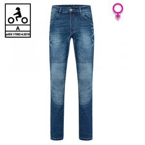 Jeans moto donna Befast JARVIS Lady CE Certificati Blu stonewash
