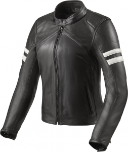 Giacca moto donna pelle Rev'it Meridian Ladies Nero Bianco