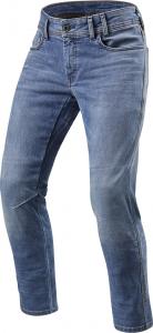 Jeans moto Rev'it Detroit Azzuro Classic Slavato L36