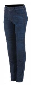Jeans moto donna Alpinestars DAISY V2 Rinse Plus Blu