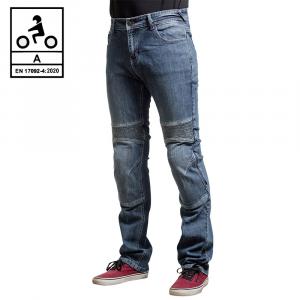 Jeans moto Befast Iron Tech CE Certificati con fibra aramidica Blu