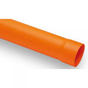 TUBO IN PVC ARANCIO Diam. 63 lungh. 2000
