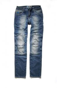 Jeans moto donna PMJ Florida Blu Medio