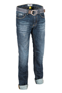Jeans moto PMJ - Promo Jeans CAFERACER Blu