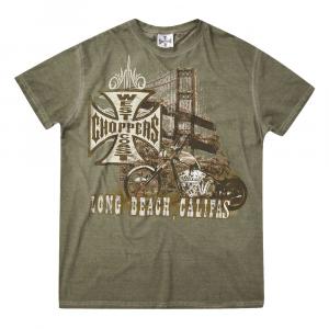 T-shirt West Coast Choppers Bridge Petrolio Verde