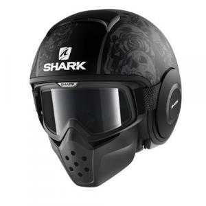 Casco jet Shark Drak Sanctus nero opaco antracite antracite