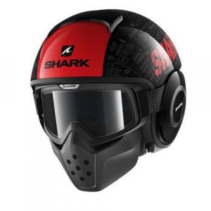 Casco jet Shark Drak Tribute RM nero rosso antracite