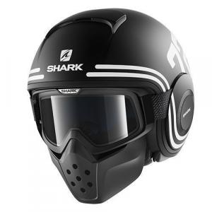 Casco jet Shark Drak 72 nero bianco nero