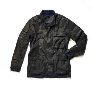 Giacca moto Pmj - Promo Jeans District grigio antracite