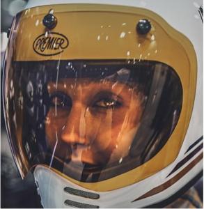 Visiera 3 bottoni arancione Premier per casco MX